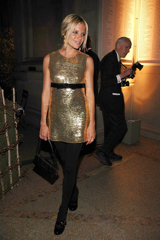 Sienna rocked a glittery Burberry mini for the Costume Institute Gala in 2006.