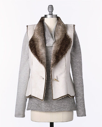 Coldwater Creek Faux Shearling Vest ($110)