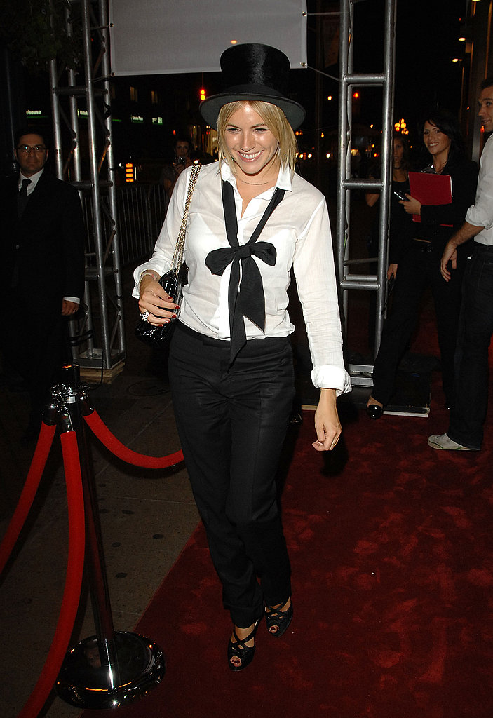 Sienna tied one on for the Toronto Film Festival in 2007.