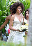 Pics: Carlos Santana's New Wife in Her Gown Before Gorgeous Hawaii Wedding!
