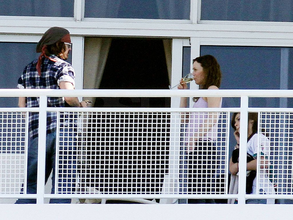 Pictures of Johnny Depp in Miami With Vanessa Paradis and Daughter Lily-Rose