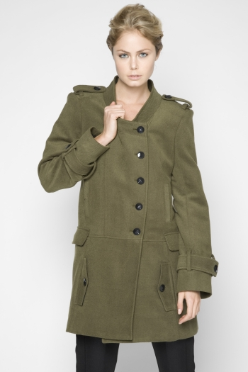 Brushed Twill Button-Front Coat ($129, originally $208)