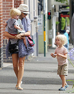 Pictures of Liev Schreiber and Naomi Watts With Sasha and Samuel in Australia