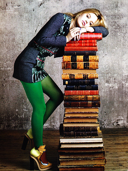 Georgia May Jagger charmed as the sexy bookworm in Vogue China.
