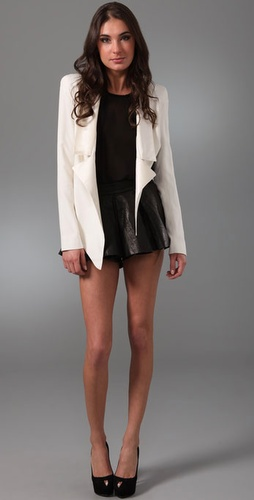 Ellery Leather Shorts