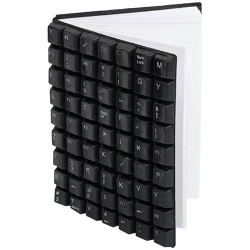 Two's Company Recycling is Key Recycled Keyboard Notebook ($14)
