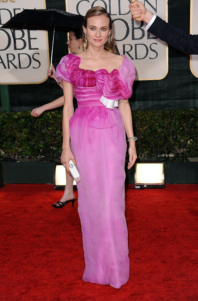 Diane Kruger in Christian Lacroix at the Golden Globe Awards.