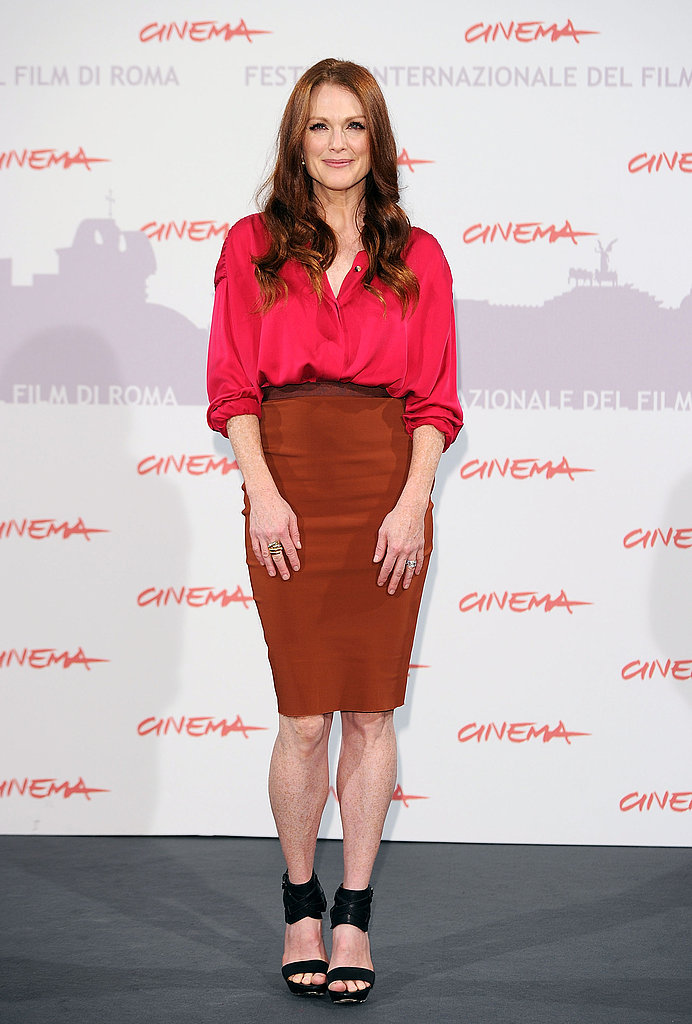Julianne Moore in Lanvin at the The Kids Are All Right London photocall.
