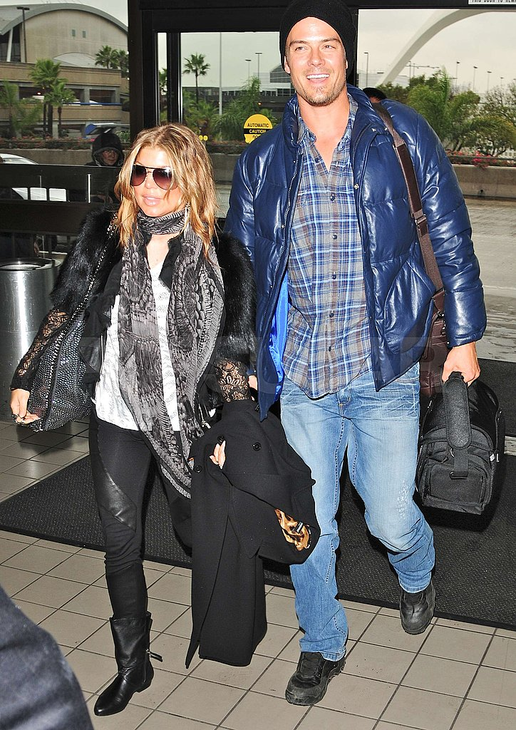 Fergie and Josh Jet Out For Christmas — Happy Holidays and Safe Travels to You!