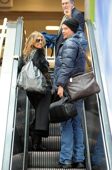 Pictures of Fergie and Josh Duhamel Leaving LAX For the Holidays