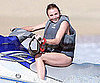 Slide Picture of Cameron Diaz Riding a Jet Ski in Cabo