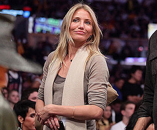 Slide Picture of Cameron Diaz at the Lakers Game in LA