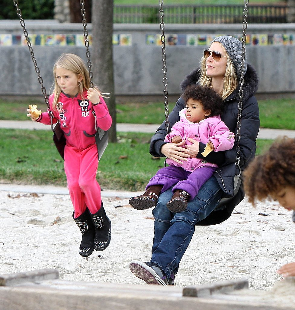Heidi and Seal Bring Their Kids to Play at the Park and Try Out Mini Segways!
