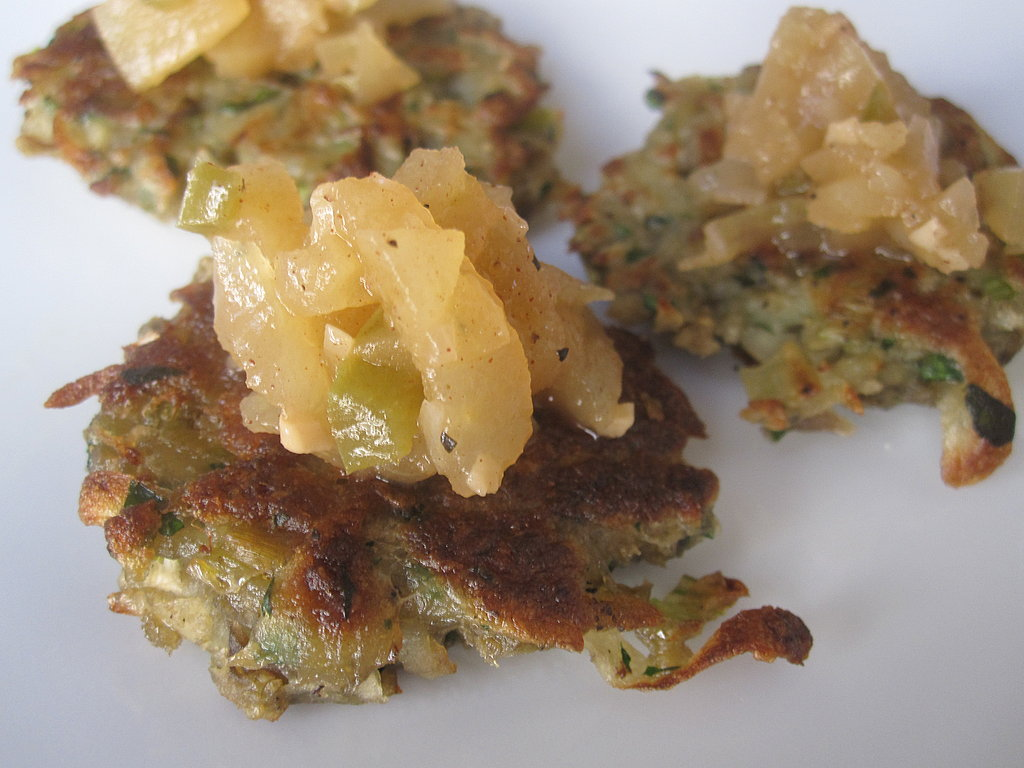 Mini Potato-Leek Latkes With Spicy Apple Chutney