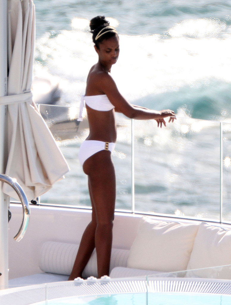 Diddy and Bikini-Clad Kim Continue Their Yachting Adventures in St. Barts