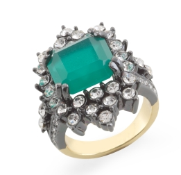 Emerald Stone Ring ($16, originally $38)
