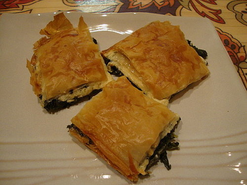 Mustard Green and Cheeze Filo Pie
