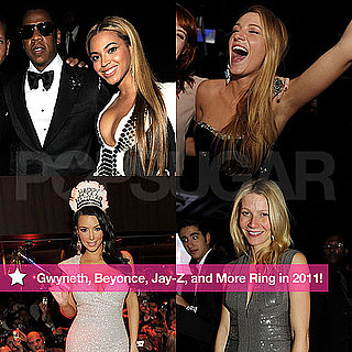 Pictures of Beyonce Knowles, Jay-Z, Gwyneth Paltrow, Kim Kardashian, and More on New Year's Eve 2010