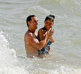 Pictures of Shirtless Matthew McConaughey at the Beach in Brazil With Camila Alves