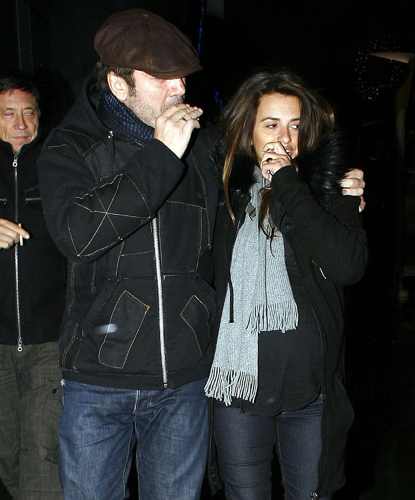 Pregnant Penelope Cruz and Javier Bardem Make Time For a Movie Date