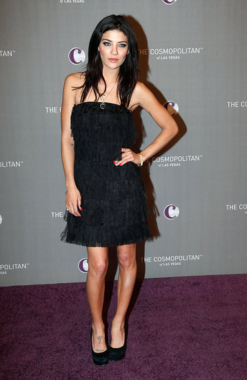 Jessica Szohr's flirty fringe dress was a cool '20s-era throwback.