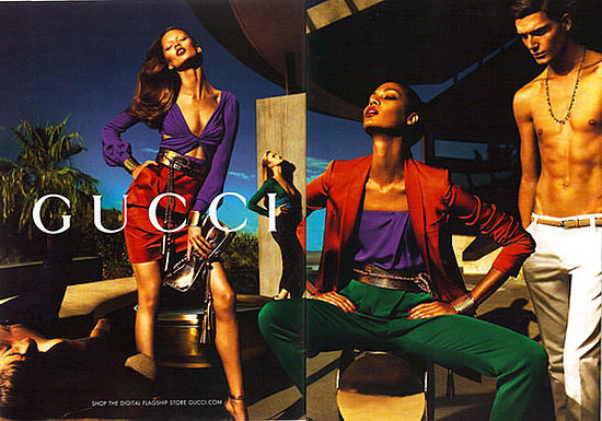 Joan Smalls, Hailey Clauson, Karmen Pedaru for Gucci, by Mert Alas and Marcus Piggott