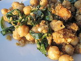 Spanish Spinach With Garbanzos