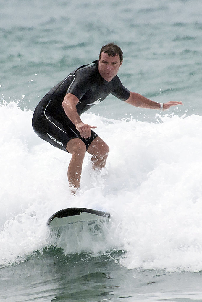 Liev Schreiber was hanging ten during a trip to Bondi Beach in January 2011.