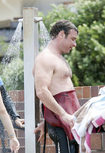 Pictures of Shirtless Liev Schreiber Surfing in Australia
