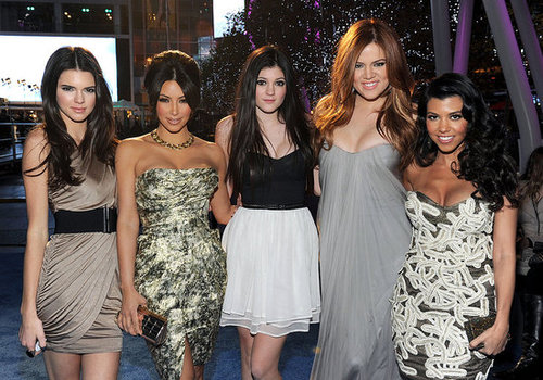 Kim, Khloe and Kourtney Kardashian at the 2011 People's Choice Awards
