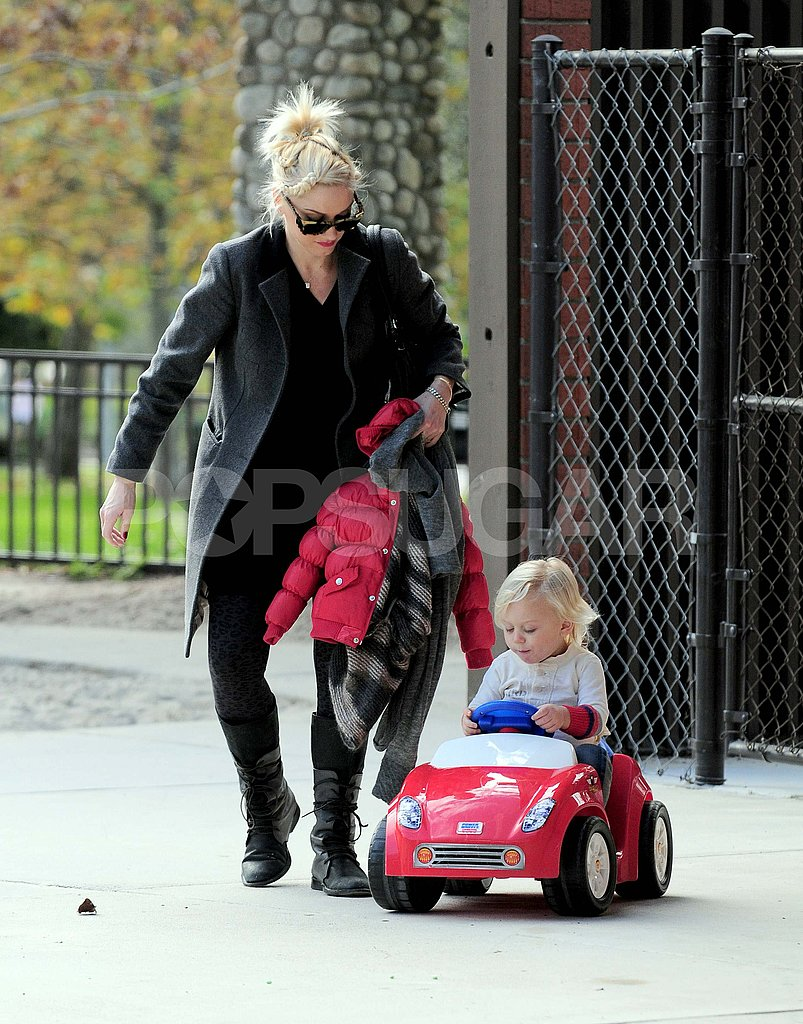 Gwen Stefani Zooms Around the Park With Adorable Zuma