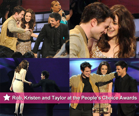 Robert Pattinson, Kristen Stewart, and Taylor Lautner at 2011 People's Choice Awards