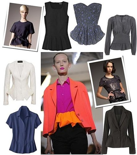 Peplum Tops and Jackets Are Big For Spring