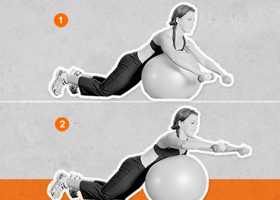 Shoulder Shaper on Stability Ball