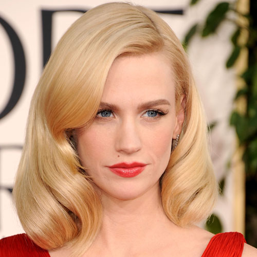 January Jones at 2011 Golden Globes
