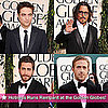 Pictures of Zac Efron, Ryan Gosling, Jake Gyllenhaal and Robert Pattinson at the 2011 Golden Globe Awards