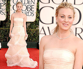 Kaley Cuoco at 2011 Golden Globe Awards