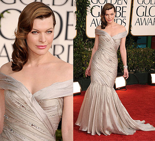 Milla Jovovich at 2011 Golden Globe Awards