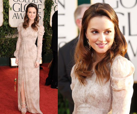 Leighton Meester at 2011 Golden Globe Awards