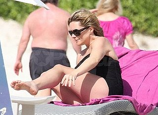 Pictures of Pregnant Jane Krakowski Vacationing in St. Barts With Her Fiance Robert Godley