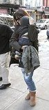 Sandra Bullock and Baby Louis Buddy Up Against the NYC Cold