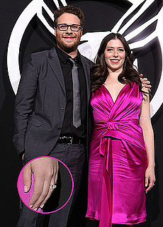 Pictures of Seth Rogen's Fiancée's Engagement Ring at Green Hornet Premiere 2011-01-10 21:00:00
