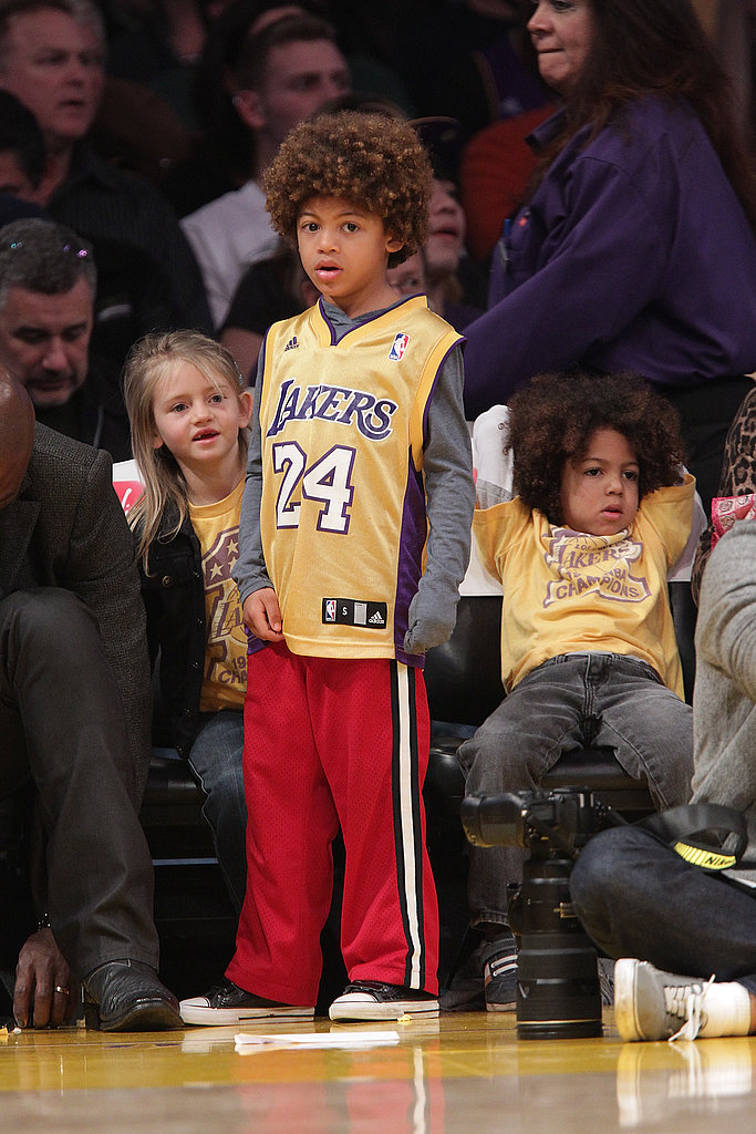 Heidi and Seal Bring Their Kids to Sit Courtside at a Lakers Game With Tom and Sacha