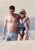 Diane Kruger Wears a Wild Suit For a Walk on the Beach With Shirtless Josh Jackson