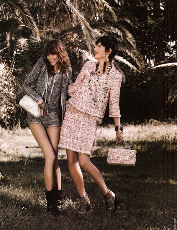 Freja Beha Erichsen and Stella Tennant For Chanel