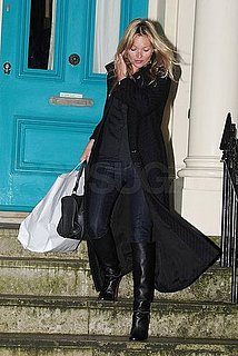 Pictures of Kate Moss Running Errands in London