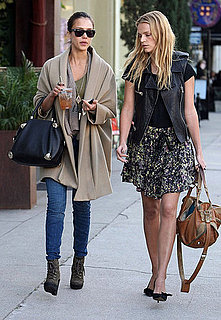 Pictures of Jessica Alba Meeting Up With Friends at Joan's on Third in LA For Lunch