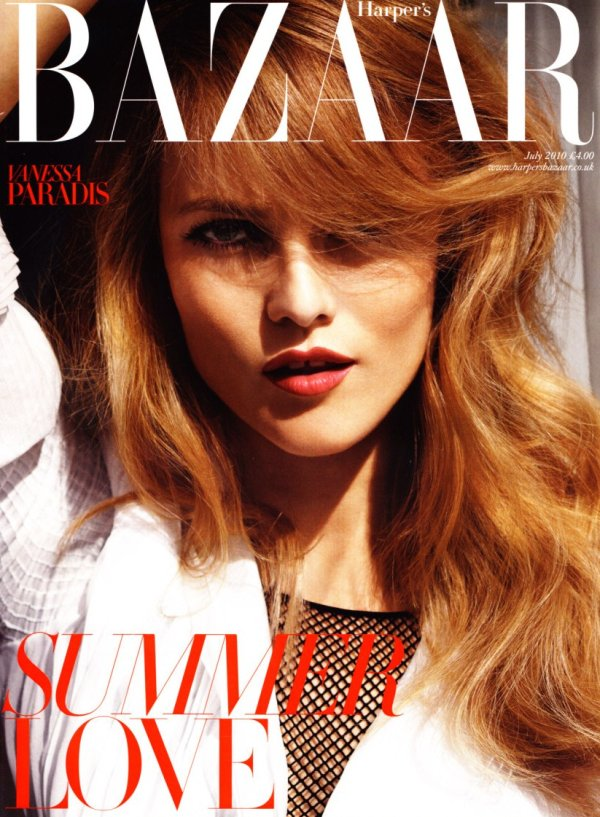 Vanessa Paradis on the cover of Harper's Bazaar UK.