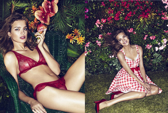 Natalia Vodianova Ups The Flirt Factor For Etam Spring '11