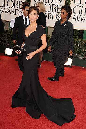 Eva Longoria looked super sophisticated in black Zac Posen.